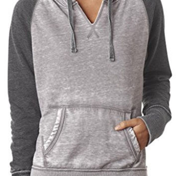 Yoga Clothing for You Womens Acid Wash Burnout Hoodie
