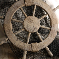 "25""   Wood Ship's Nautical Steering Wheel $20"