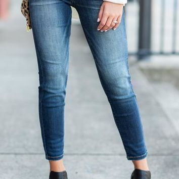 Classic Content Skinny Jeans, Dark Wash