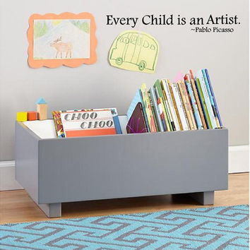Every Child is an Artist -Pablo Picasso Vinyl Wall Art-4h x 30w-Vinyl Lettering Decal-Wall Words Decal--Boys Nursery Girls Room Decal