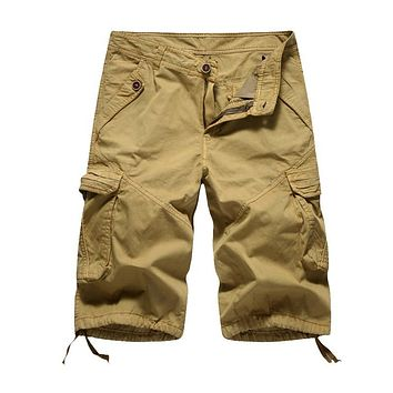 Cargo Shorts Men Camouflage Military Shorts Summer Outwear Hip Hop Casual Shorts