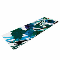 "Ebi Emporium ""Petal For Your Thoughts Teal"" Turquoise Green Yoga Mat"