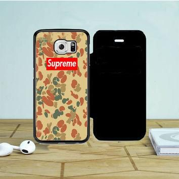 Supreme Camo Vertical Samsung Galaxy S6 Edge Flip Case | Tegalega