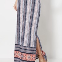 Batik Striped Deep Slit Maxi Skirt | Maxi | rue21
