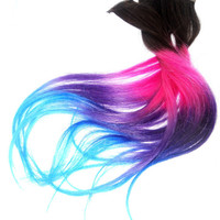 Brown to Any Color -16 inch long/ ombre hair/ human hair extensions/ clip-in hair wefts/ FULL SET/ hair extensions