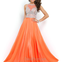 Heavily Embellished Blush Prom Gown 9947