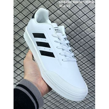 KUYOU A571 Adidas Court 70s Fashion Baitao Personality Campus Board Shoes White Black