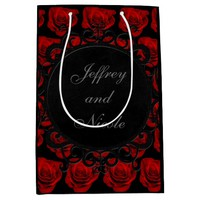 Gothic Red Roses Victorian Wedding Medium Gift Bag