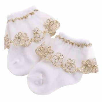 Christening Winter Warm Meias Para Bebe Cotton Baby Girl Socks,Kids Ruffled Meias Infantil Knitted Knee Lace Baby Socks Newborn