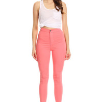 Colorful High Waist Denim Jeans