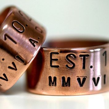 Personalized Copper Ring by monkeysalwayslook on Etsy