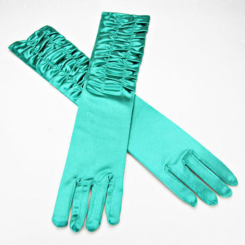 Over The Elbow Gloves Green