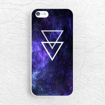 Galaxy Space Triangle phone case for iPhone 6, Sony Z3 compact, LG g3 nexus 5, HTC one M8 M9, Moto x Moto g, Samsung S6, Nokia Lumia -P47
