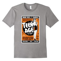 Teen Age Vintage Poster T-shirt with Retro Advertising Art