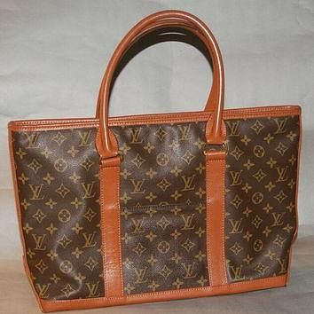 Tagre™ Authentic Louis Vuitton Vintage Monogram Sac Weekend Shoulder Bag