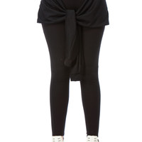 Black Stylish Tie Over Leggings