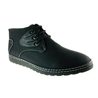 Imarc Men's Brockport Two Tone Lace up Chukka Boots