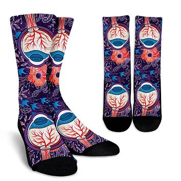 Eyeball Illustration Socks