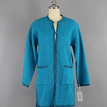 Vintage 1960s Indian Cotton Reversible Jacket