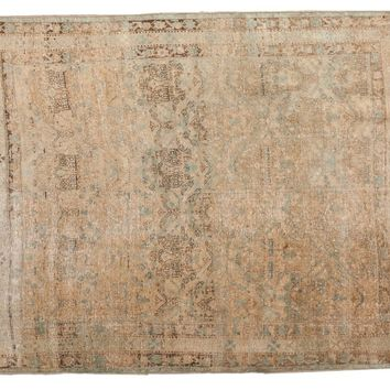 4.5x5.5 Vintage Distressed Northwest Persian Square Rug