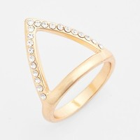 Tildon Pave Triangle Ring