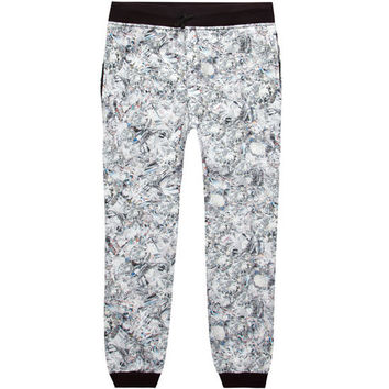 Elwood Diamond Print Boys Jogger Pants White/Black  In Sizes