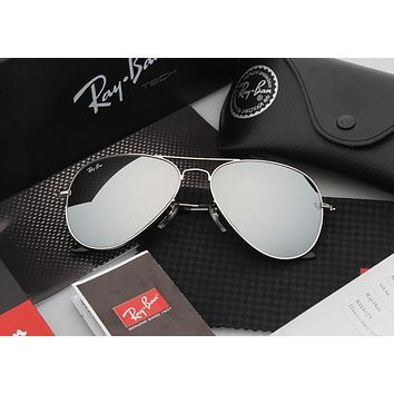 Ray Ban Aviator Sunglass Silver Mirrored Polarized Rb 3025 019/w3 | Best Deal Online