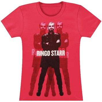 Beatles  Standing Junior Top Pink