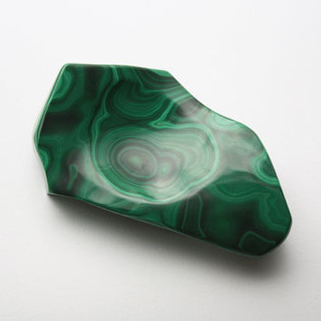 Vintage Malachite Bowl - 1970s
