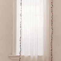 Pompom Curtain | Urban Outfitters