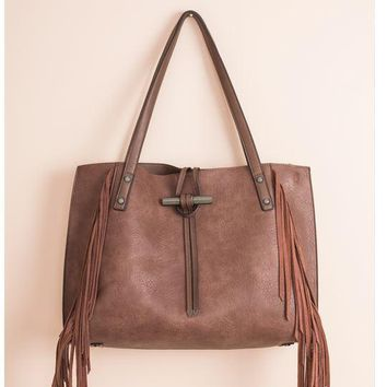 Forever Fringe Tote by Simply Noelle