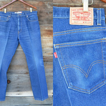 Vintage Levi 517 Boot Cut Distressed Jeans 36x29