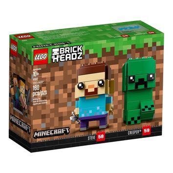 Lego 41612 BrickHeadz Minecraft Steve and Creeper 160 Pieces New with Box