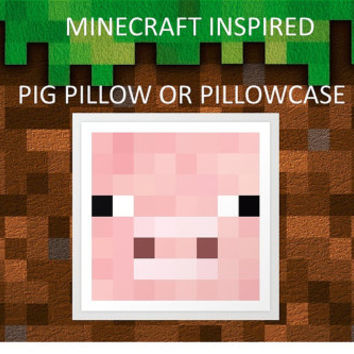 Minecraft Pig Pillowcase- Twin Size