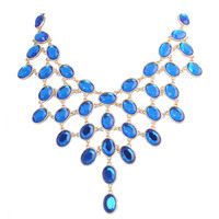 Bohemian Beadwork Chunky Cluster Trendy Bib Necklace Fashion Jewelry
