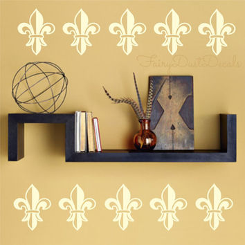 French Fleur de Lis wall decals Set of 16