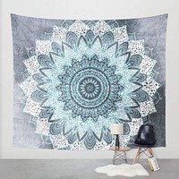 Bohemian Tapestry Floral Printed Boho India Hanging Wall Tapestries 130cmx150cm 153cmx203cm