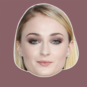 Confused Sophie Turner Mask - Perfect for Halloween, Costume Party Mask, Masquerades, Parties, Festivals, Concerts - Jumbo Size Waterproof Laminated Mask