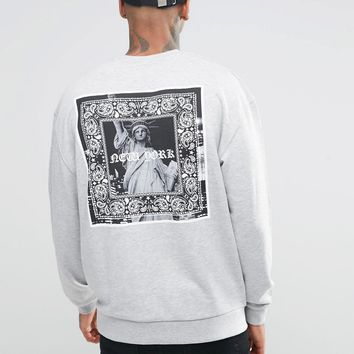 ASOS Oversized Sweatshirt With NYC Gothic Print