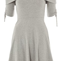 Bardot Ruched Mini Dress - Dresses - Clothing