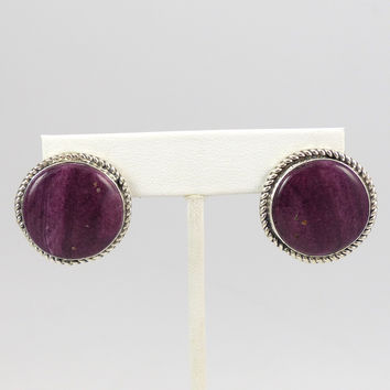 Purple Spiny Oyster Earrings