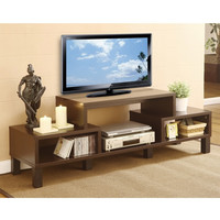 Modern 60 Inch TV Stand With Audio Video Media Storage Shelves