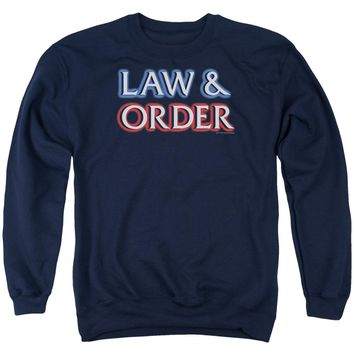 Law And Order - Logo Adult Crewneck Sweatshirt