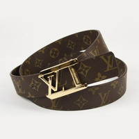 Perfect LV Woman Fashion Smooth Buckle Belt Leather Belt