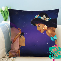Aladdin and Jasmine, A Whole New World Zippered Pillow Case, Cushion Case, Pillow case