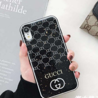 GUCCI Black Cover Case for iPhone 6 7 8 PLUS XSMAX XR