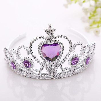 ESBONFI New Frozen Crown Twinkle Hair Accessories For Girls Princess Bridal Crown Crystal Diamond Tiara Hoop Headband Hair Bands