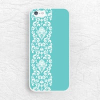 Tiifany blue Lace pattern Phone Case for iPhone, Sony z3 compact, LG g2 g3 nexus 6, HTC one m7 m8, Moto x Moto g, Samsung s5 Mint case -P2