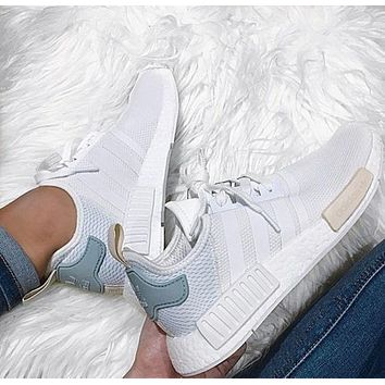 Adidas NMD Trending Fashion Casual Sports Shoes white Mint green-3