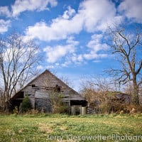 Old Barn Photo, Rustic Landscape Photography, Barn Photography, Decor, Rural Maryland, Country, Eastern Shore, Home Decor, Wall Art
